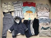 MASSIVE Bundle Designer Baby Boy Clothes Coat Outfits Tops 0-9m Kin John Lewis, American Apparel