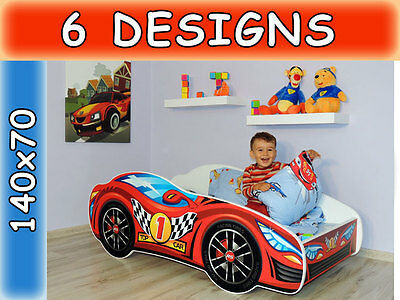 childrens bed toddler kids with mattress racing car bed