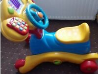 Baby toddler bundle of toys vtech ride on and walker