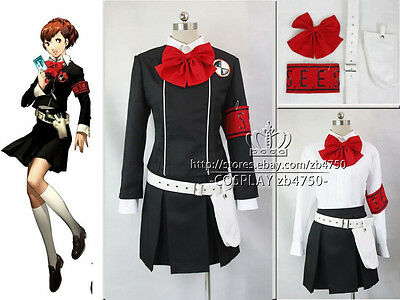 Persona 3 Fuuka Yamagishi Halloween Cosplay Costume Any Size