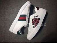 Women's Gucci Ace low Snake logo sneakers size uk 6