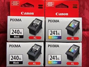 Wanted CANON 240XL Black & 241 XL Color Genuine Ink Cartridges