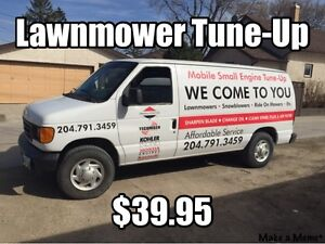 Mobile Lawnmower Tune-Up $39.95