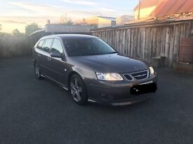 Saab 9-3 aero 2.8 v6 turbo sportwagon estate. Auto. Cheap tax, FSH! 250bhp