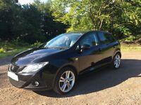 Seat Ibiza 1.6 TDI Sportrider, 5 door, 2011, black, £30 Tax