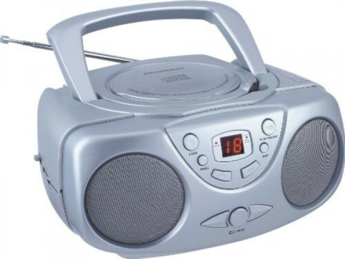 Sylvania SRCD243 Portable CD Player with AM/FM Radio, Boombox , New
