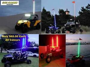 Off road 4WD Quad Bike LED 5Ft 12v Whips Sand Flags Included Success Cockburn Area Preview