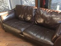 Real Leather 3 Seater Sofa Can also deliver