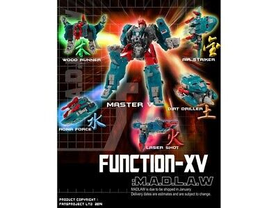 Transformers FansProject Function X-05 MADLA : 3rd party MP Quickswitch MISB