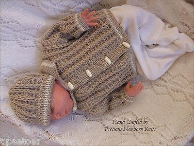 BABY KNITTING PATTERNS DK 32 FRANKIE BOYS OR REBORN DOLLS PRECIOUS NEWBORN KNITS