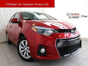 2014 Toyota Corolla S, CVT, A/C, SIEGES CHAUF, BLUETOOTH LOW MIL