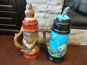 Selling Two Large Beer Steins Hand Painted Ceramic - $26 each Kitchener / Waterloo Kitchener Area image 2