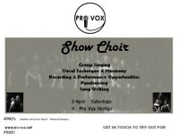 Pro Vox - Show Choir (group singing class, singing technique, performances, recording)
