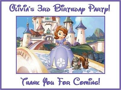 (18) PERSONALIZED Sofia The First Stickers, 3 1/4