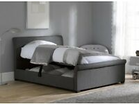 Double Ottoman Bed - Grey - Mint Condition