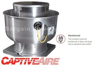 Captiveaire Nca14 Floaire Bdu15 Belt Drive Exhaust Fan 3800cfm 1hp 1012 Hood