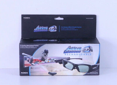 NXG 3D Active Kit W Emitterrecharge Glasses 3D-3DGRKIT PC Samsung TV Projector