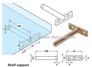 CONCEALED SHELF BRACKETS FLOATING HIDDEN SUPPORTS SCREW MOUNTING PLATE