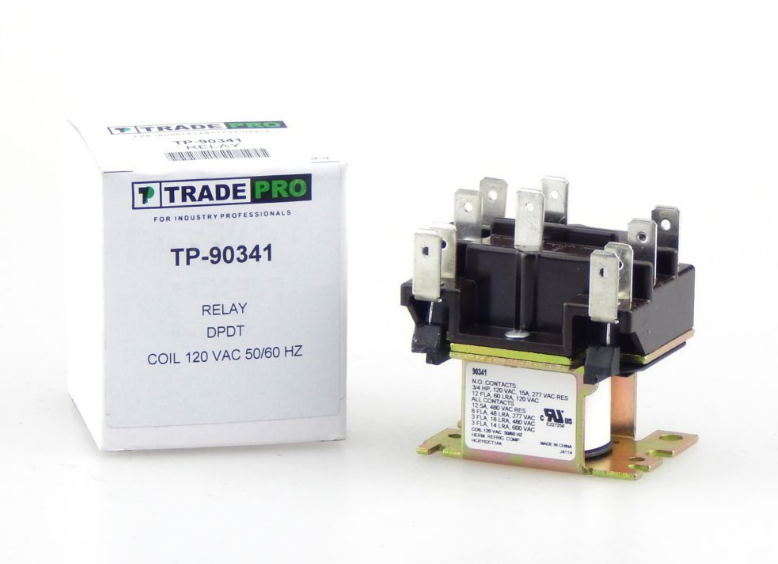 90341 Relay Trade Pro TP-90341 120VAC Coil 50/60 HZ A/C Cent