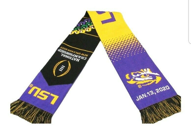 LSU Tigers 2020 National Championship Scarf CFP Scarf