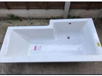 L Shaped Bathtub 1675MM Left hand