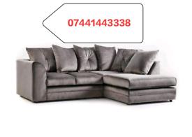 New Plush Velvet Left Or Right Hand Corner Sofa