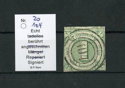 "THURN & TAXIS Nr.20 Nr.-Stpl. ""104"" Kurzbefund SEM BPP !!! (126795)"