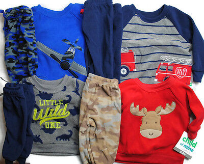 New CHILD OF MINE By CARTERS Boy Sweat Shirt Pant Outfit Newborn 0-3 3-6 6-9 Mo
