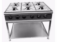 Commercial 6 Burner Cooker