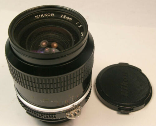 Nikon Nikkor 28mm f2 Ai M/F lens Exceptional