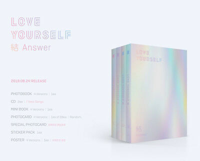 BTS LOVE YOURSELF 結 Answer Version SELECT CD+Folded Poster+Megakshop Store Gift