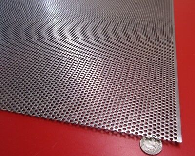 Perforated Straggered Steel Sheet .060 Thick X 36 X 40 .156 Hole Dia.