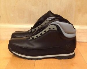TIMBERLAND-EURO-DUB-HIKER-BLACK-BOOTS-VINTAGE-GS-KIDS-YOUTH-SZ-4-7-Y-86929