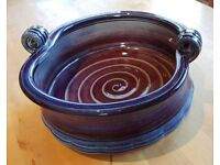 Large hand-made pottery bowl by John Maguire