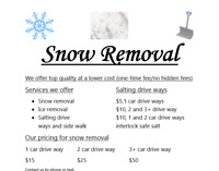 Snow cleaning removal