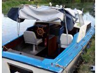 21 teal boat