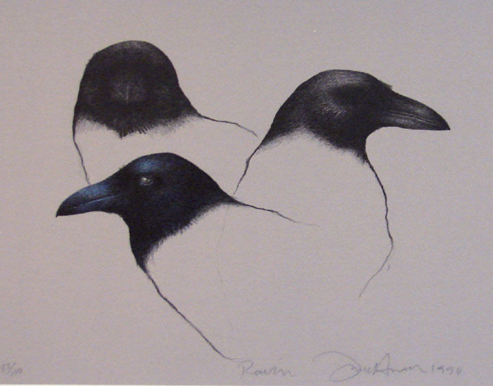 Frank Howell Raven Original Fine Art Birds Hand Signed Artwork Submit Offer