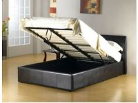 STORAGE OTTOMAN GAS LIFT SINGLE (3FT) LEATHER BED