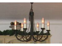 Quality Black 6 Light / Arm Chandelier