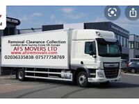 Urgent House Removal Office Furniture Moving Service Waste Collection Man & Luton Van Hire UK Europe