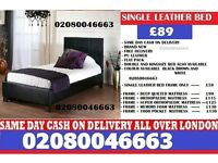 Single leather bed in different colours and sizes