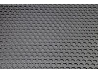 10mm Hole 15mm Pitch Aluminium Perforated Sheet 1x1 Metre 1000 x 1000 x 2mm