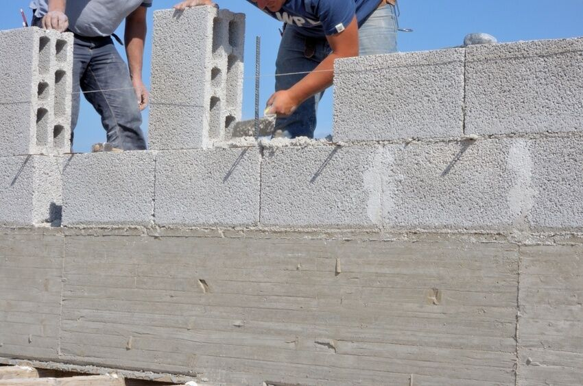How to build a concrete block wall ebay for Cinder block house construction