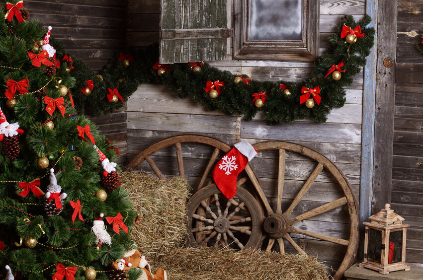 Country Christmas Decorations For Front Porch : Merry and bright christmas decorating ideas for your
