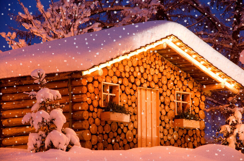 Diy Log Cabin Theme Christmas Decorations Ebay