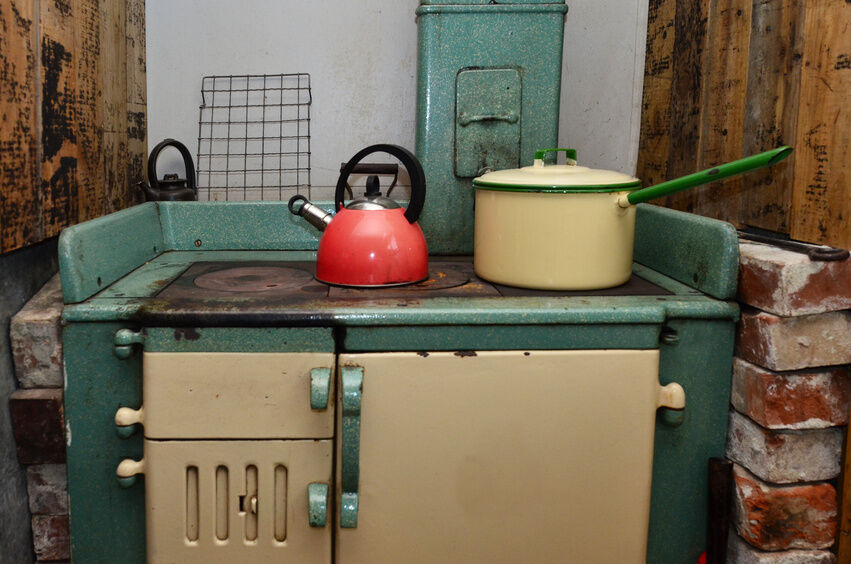 used for both decoration and as a real cooking source an antique stove adds to the atmosphere of an kitchen some of the earliest stoves