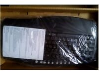 brand new USB fujitsu keyboard has a palm rest black with box only £6