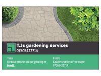T.Js gardeneng services.07505422714