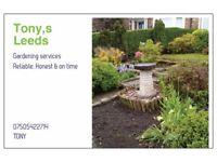 Tonys gardeneng services.