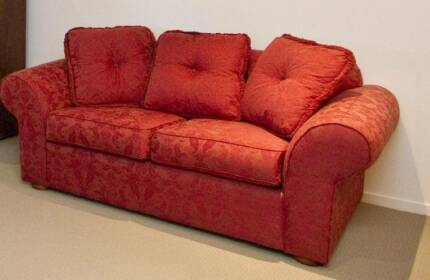 AS NEW SOFA LOUNGE WITH 2 WING BACK CHAIRS Wattle Glen Nillumbik Area Preview